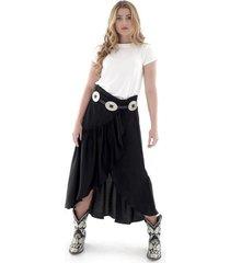 falda larga exterior - mujer