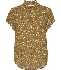 majan ss shirt aop 9942 overhemd met korte mouwen groen samsøe & samsøe