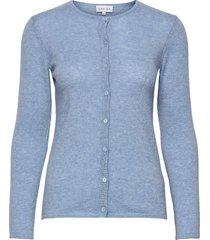 classic cardigan stickad tröja cardigan blå davida cashmere