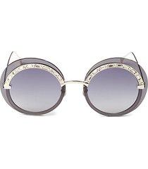 58mm embellished round sunglasses
