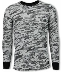 sweater tony backer army look shirt - long fit sweater -