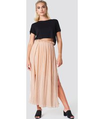 rut&circle pleated frill skirt - pink