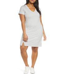 plus size women's adyson parker stripe knit shift dress, size 1x - black