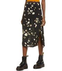 women's bp. women's print skirt, size small - black