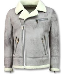 windjack tony backer imitatie bontjas - lammy coat -