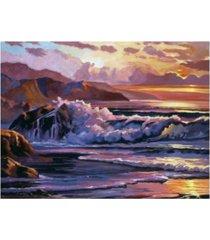 "david lloyd glover golden moment at sea canvas art - 37"" x 49"""
