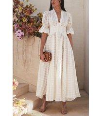 women's cult gaia willow gingham linen maxi dress