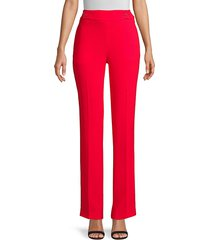 elie tahari women's poppy tab pants - blaze red - size 4