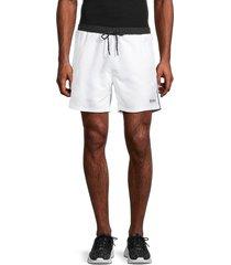 boss hugo boss men's logo swim shorts - natural - size s