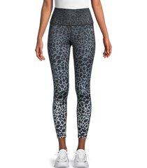 max studio women's animal-print leggings - grey - size xs