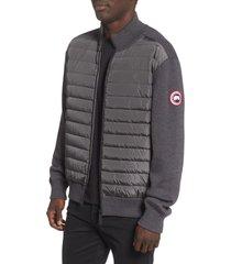 men's canada goose hybridge 675 fill power down jacket, size large - grey
