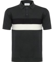 wood wood dark green scott polo shirt 35507-40881