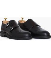 selected homme slhfilip leather monk shoe b dressade skor svart