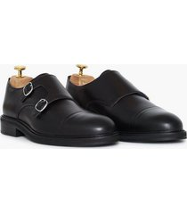 selected homme slhfilip leather monk shoe b dressade skor svart