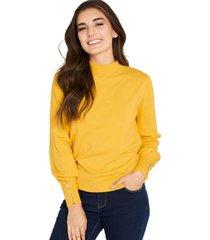 sweater botones amarillo nicopoly