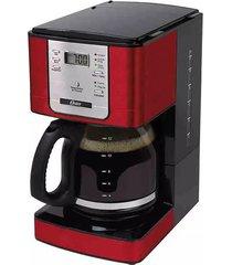 cafeteira digital programável oster bvstdc4401 vermelha 36 xícaras - 127v
