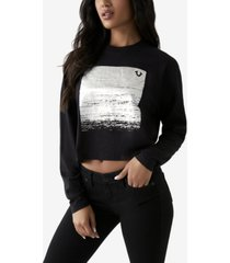 women's bella box foil long sleeve crewneck tee