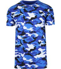 galaxy by harvic men's short sleeve crew neck camo printed tee