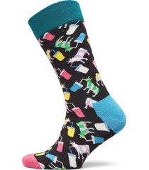 milkshake cow sock underwear socks regular socks blå happy socks