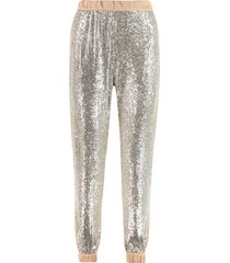 pinko annunziare knitted joggers pants