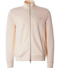 farah vintage bowmont zip sweatshirt | cream | f4ksb031-253