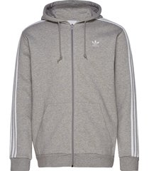 3-stripes fz hoodie trui grijs adidas originals