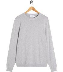 men's topman essential twist crewneck sweater, size xx-large - grey