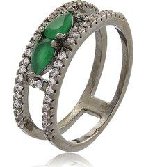 anel esmeralda duas gotinhas-16