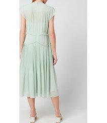 coach women's sleeveless uptown dress - pale green - us 4/uk 8