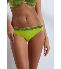 calzedonia swimsuit bottom cannes woman green size 5