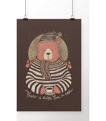 poster coffee bear
