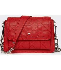 motivi borsa a tracolla multitasche con borchie donna rosso