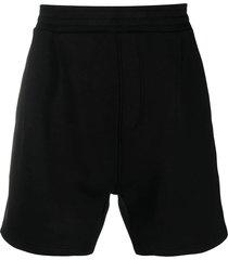 neil barrett black track shorts