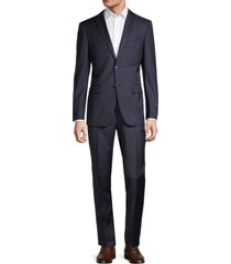 john varvatos star u.s.a. men's standard-fit windowpane wool suit - navy - size 44 l