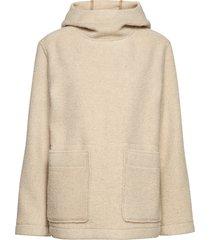 emmanuelle anorak hoodie trui beige wood wood