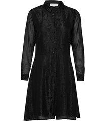 dhmollymy dress jurk knielengte zwart denim hunter
