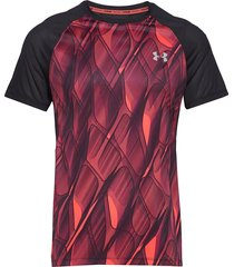m ua qualifier iso-chill printed short s t-shirts short-sleeved under armour
