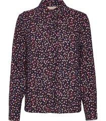 fqadney-sh-ls-flounce-adana långärmad skjorta lila free/quent