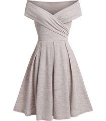 off the shoulder wrap a line party dress