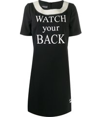 boutique moschino watch your back dress - black