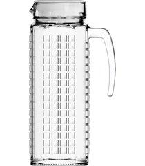 jarra de vidro sture móveis ladrilhos com tampa branca para suco 1,2 litros