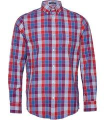 d1. windblown oxford check reg bd overhemd casual blauw gant