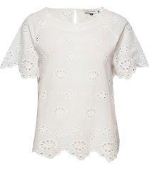 dhangela blouse blouses short-sleeved vit denim hunter