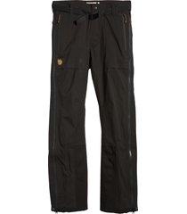men's fjallraven keb eco-shell pants, size xx-large - black