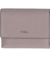 furla babylon bi-fold leather wallet