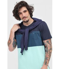 camiseta colombo bolso azul-marinho/verde