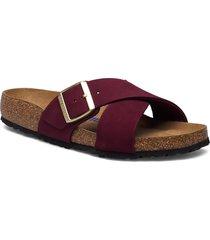 siena soft footbed shoes summer shoes flat sandals röd birkenstock