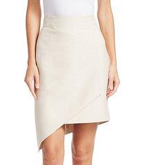 asymmetric front panel skirt