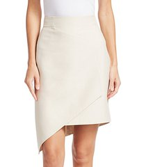 asymmetric front panel skirt