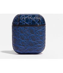 womens play that funky music croc air pod case - blue